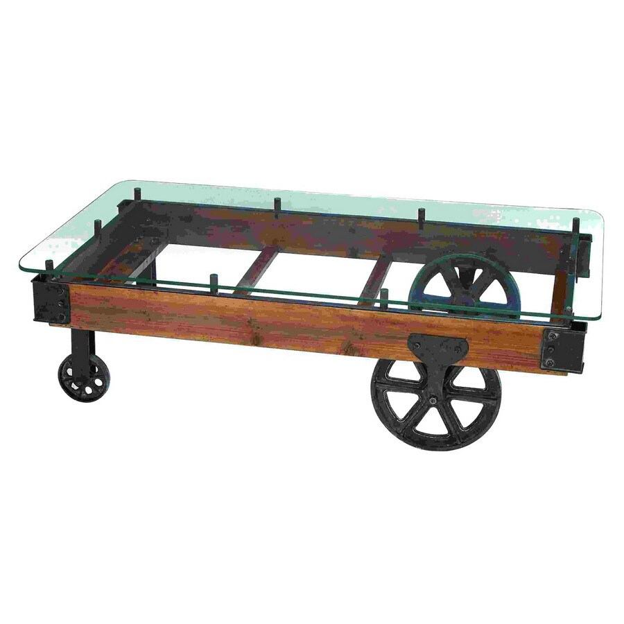 Woodland Imports Metal Rectangular Coffee Table