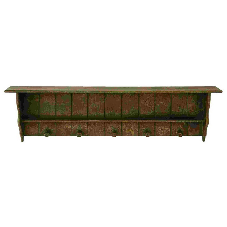 Woodland Imports 48-in W x 14-in H x 7-in D Wood Wall Mounted Shelving