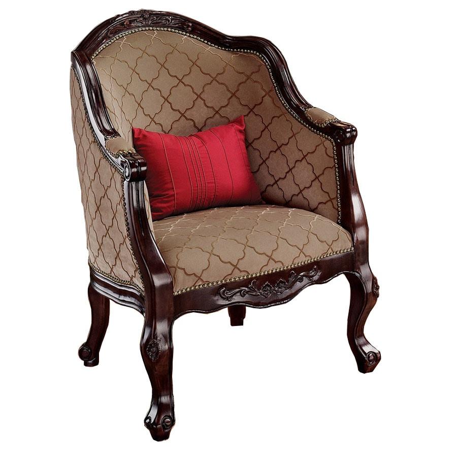 Design Toscano Market House English Tub Mocha Accent Chair