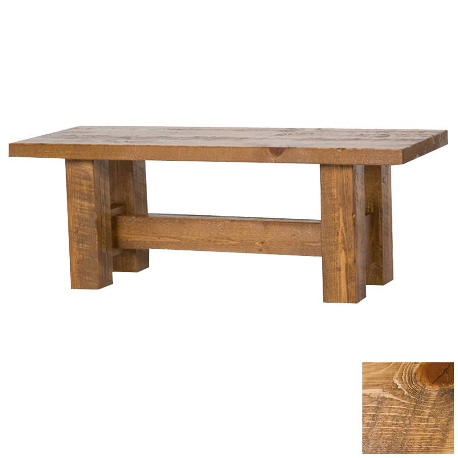 Viking Industries Barnwood Honey Pine 60 In Dining Bench