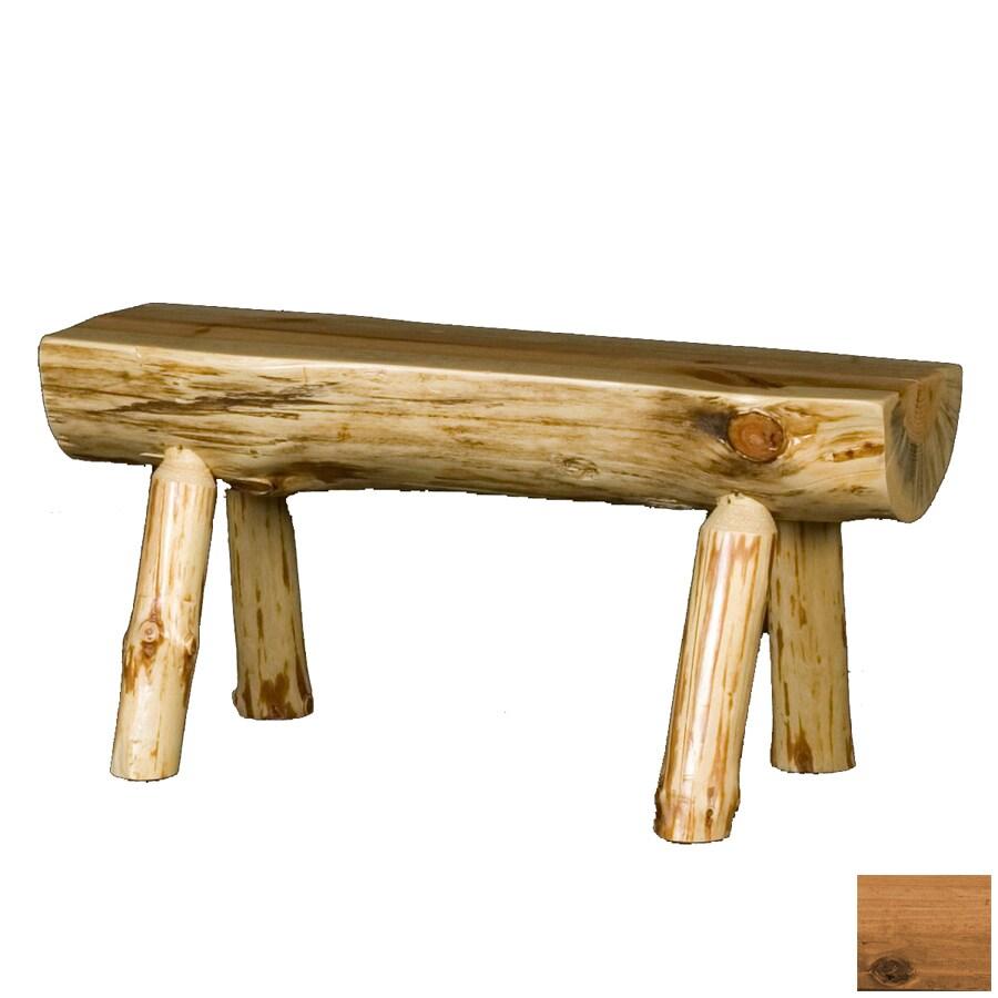 Viking Industries Log Honey Pine 72 In Dining Bench