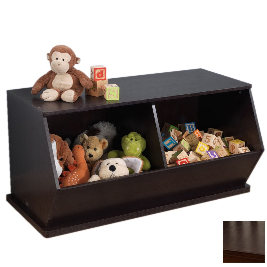KidKraft Double Storage Unit Espresso Rectangular Toy Box