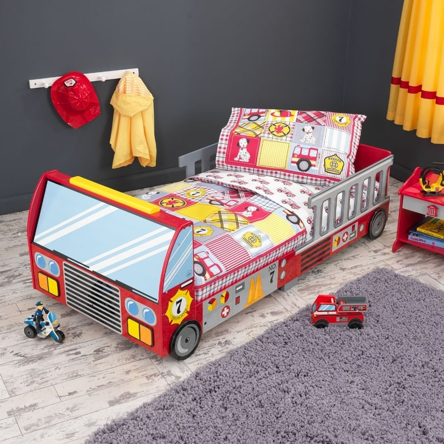 KidKraft Fire Truck Red Platform Bed