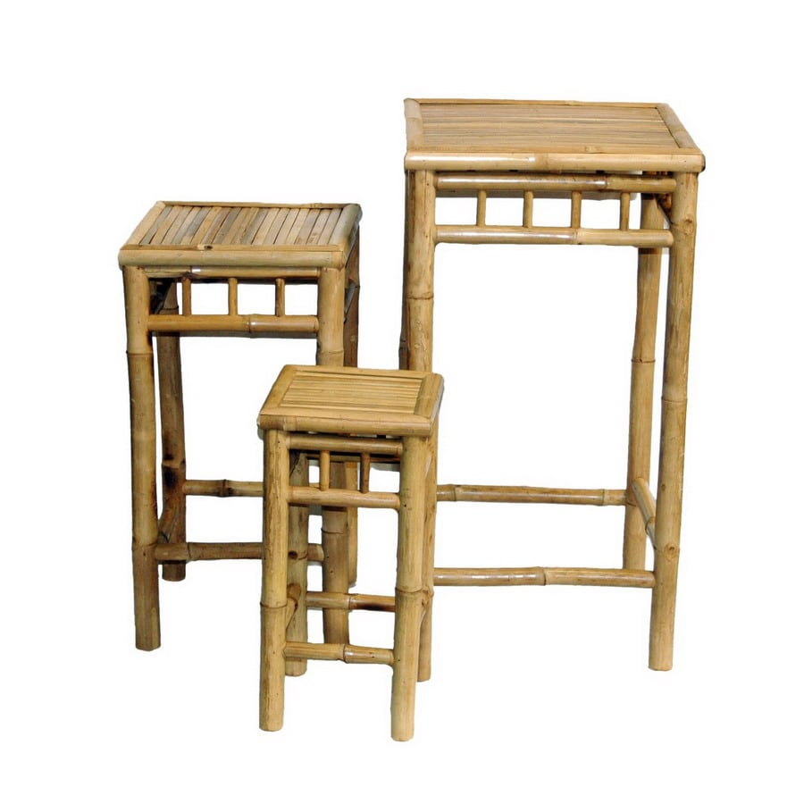 Bamboo 54 3-Piece Bamboo Accent Table Set