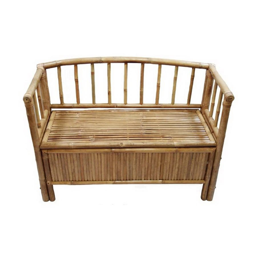 Bamboo 54 Coastal Bamboo Storage Bench