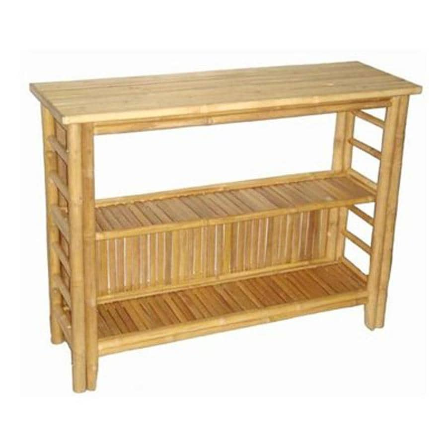 Bamboo 54 Bamboo Rectangular Console Table