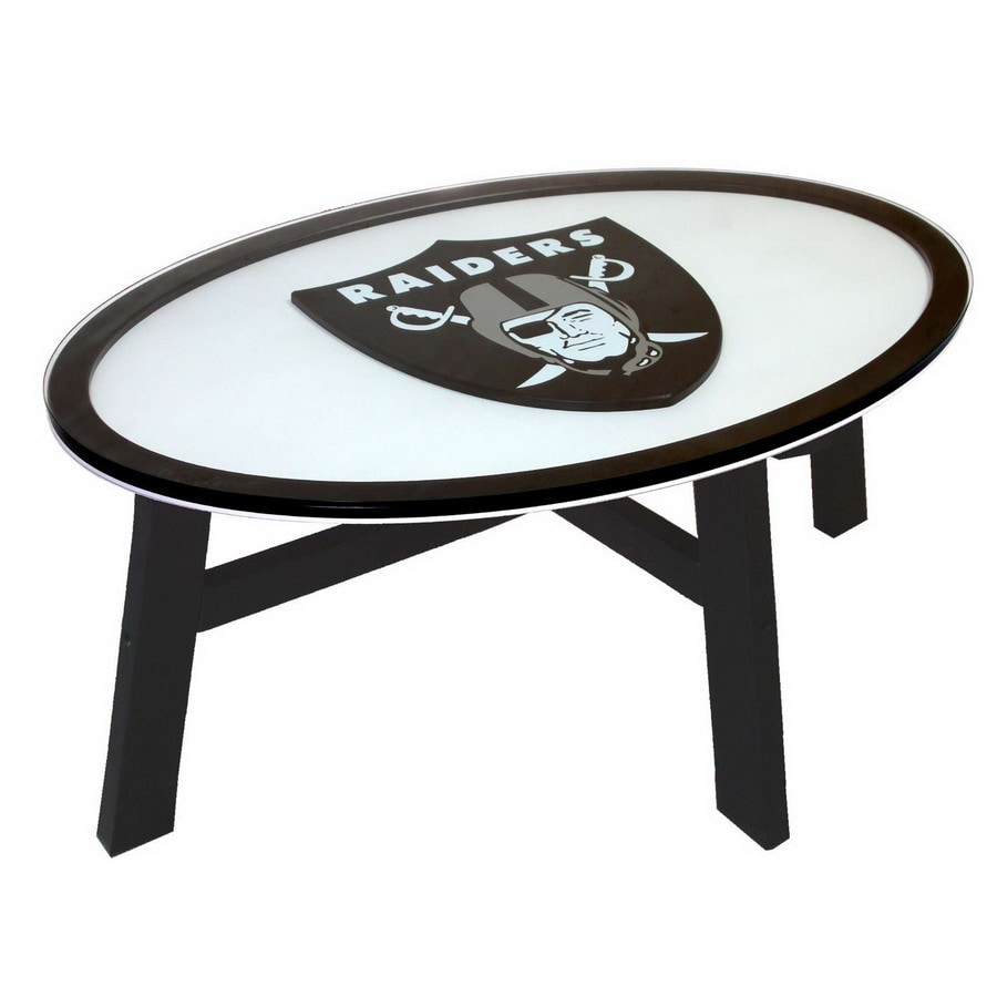 Gentil Fan Creations Oakland Raiders Birch Oval Coffee Table