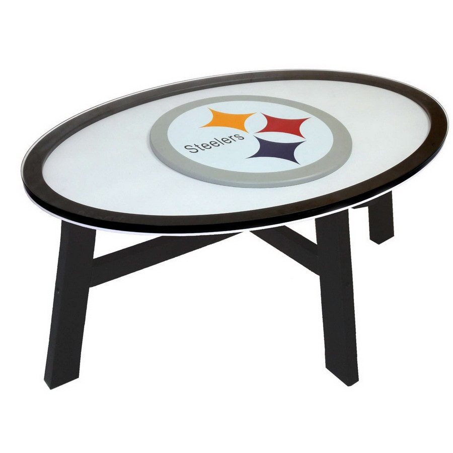 Beau Fan Creations Pittsburgh Steelers Birch Oval Coffee Table