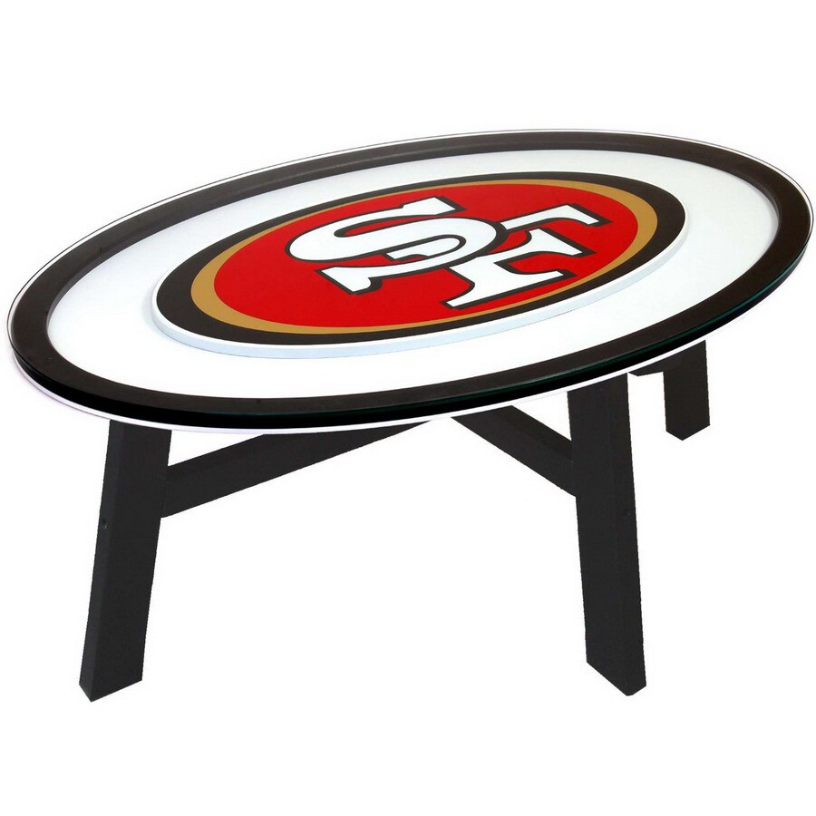 Delicieux Fan Creations San Francisco 49Ers Birch Oval Coffee Table