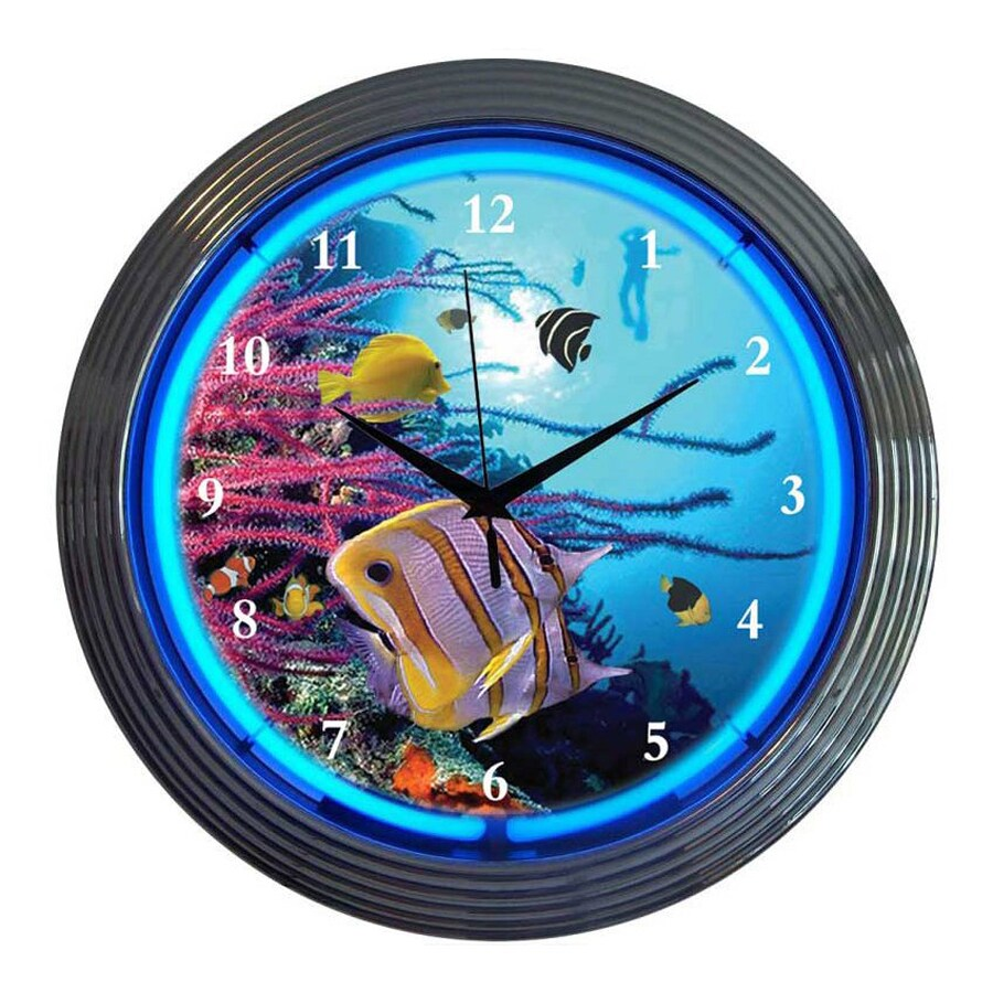 Shop Neonetics Aquarium Analog Round Indoor Wall Clock at ...
