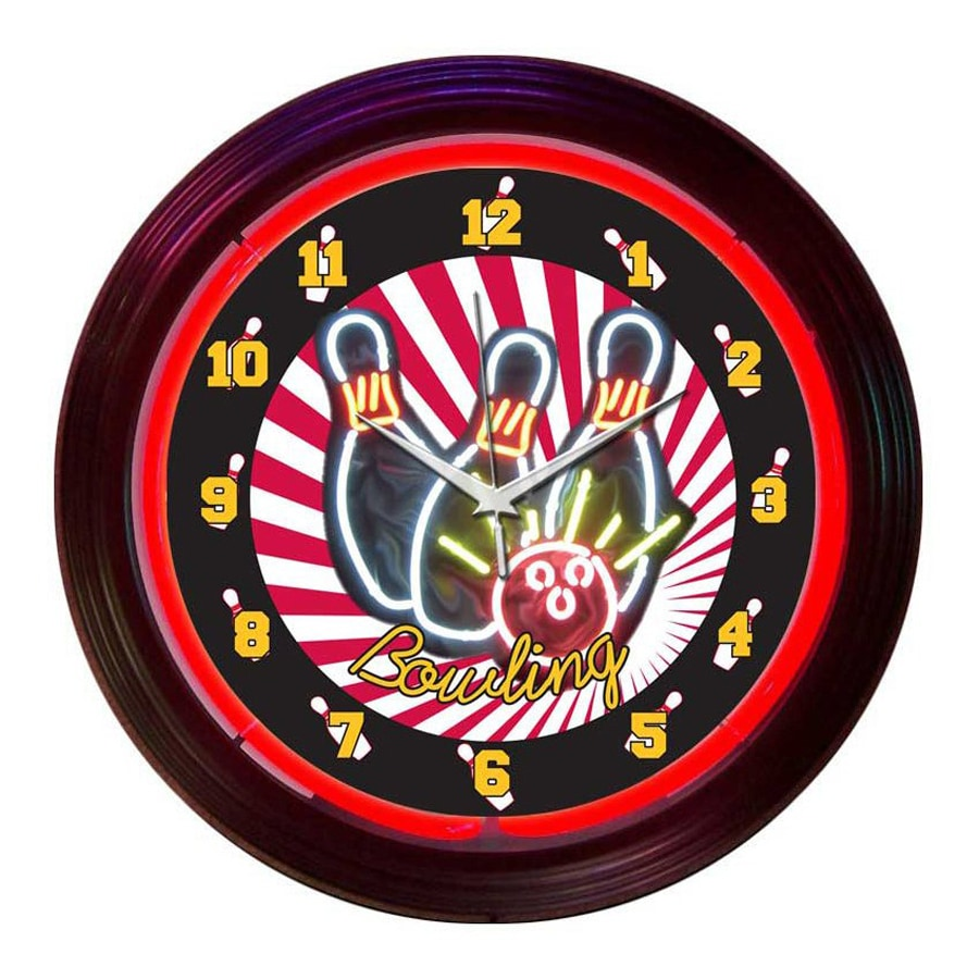 Neonetics Bowling Analog Round Indoor Wall Clock