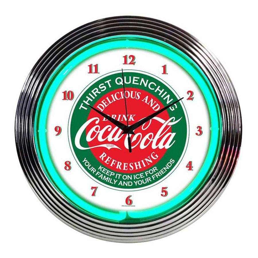 Neonetics Coca-Cola Analog Round Indoor Wall Clock