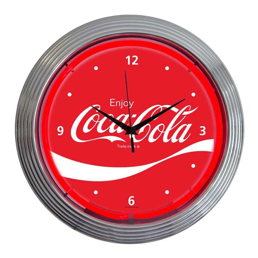 Neonetics Coca-Cola Wave Analog Round Indoor Wall Clock