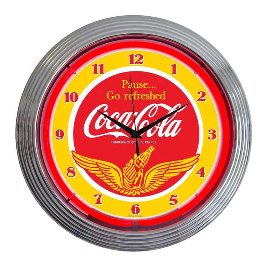 Neonetics Coca-Cola Wings Analog Round Indoor Wall Clock