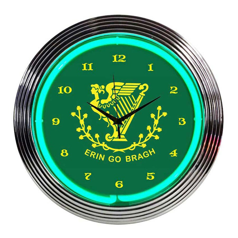 Neonetics Irish Erin Go Bragh Analog Round Indoor Wall Clock