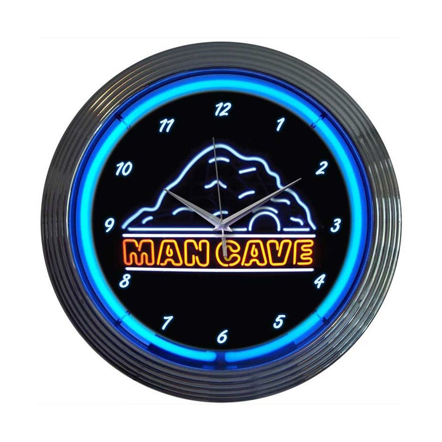Neonetics Man Cave Analog Round Indoor Wall Clock