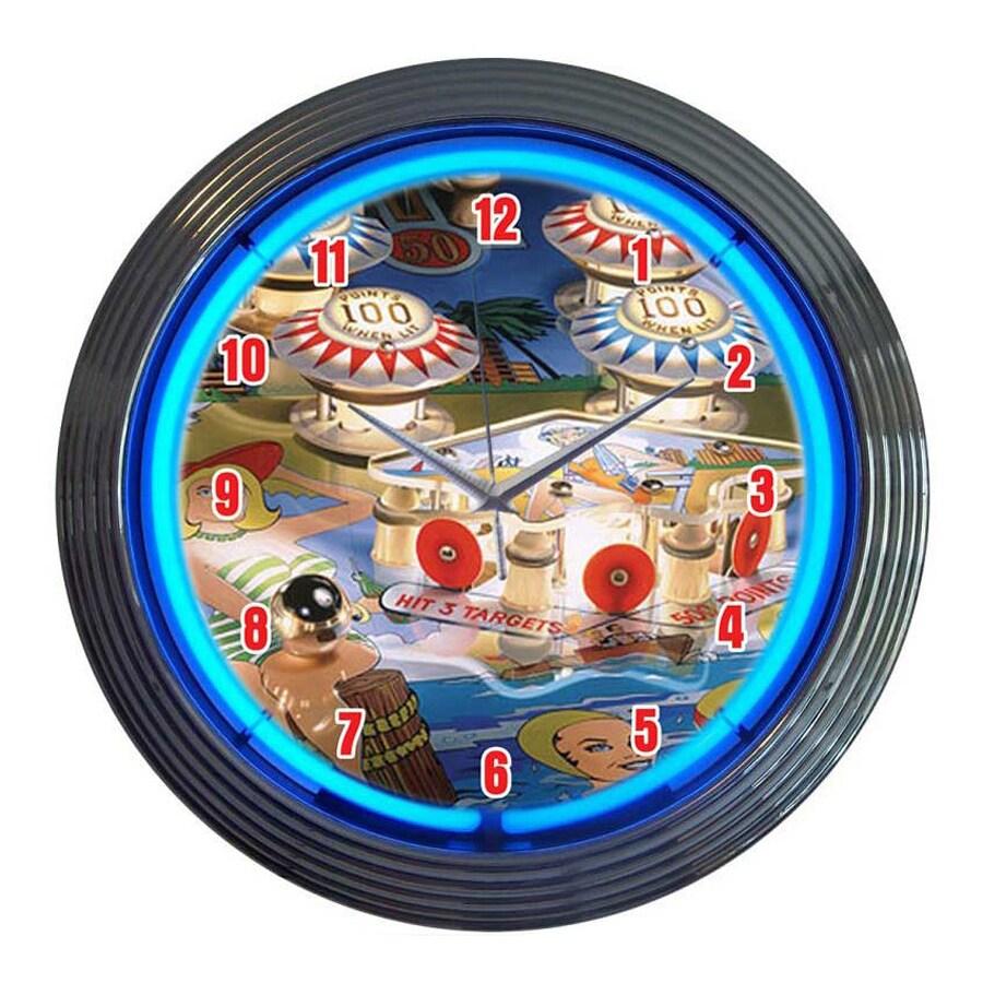 Neonetics Pinball Analog Round Indoor Wall Clock