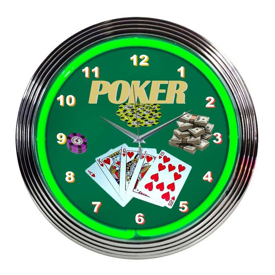 Neonetics Poker Analog Round Indoor Wall Clock