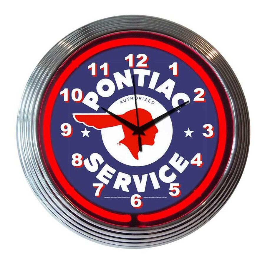 Neonetics Pontiac Service Analog Round Indoor Wall Clock