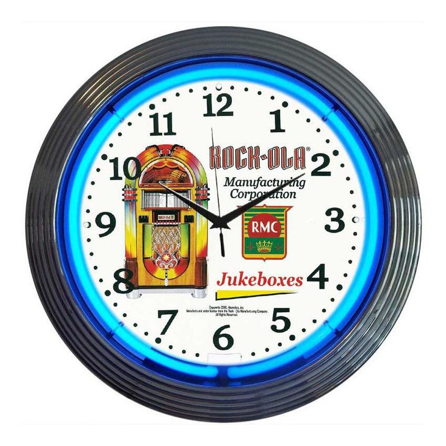 Shop Neonetics Rock-ola Analog Round Indoor Wall Clock at ...
