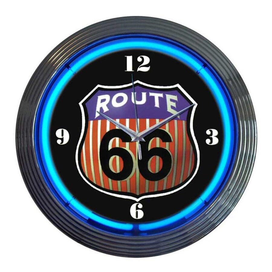 Neonetics Route 66 Analog Round Indoor Wall Clock