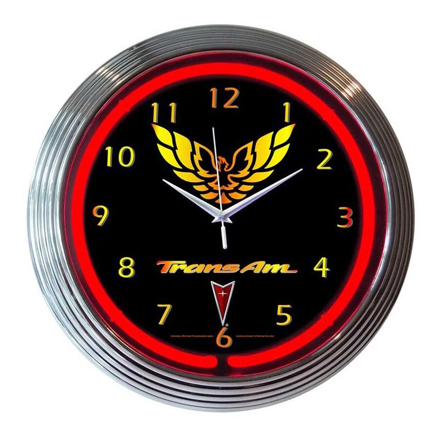 Neonetics Trans Am Analog Round Indoor Wall Clock