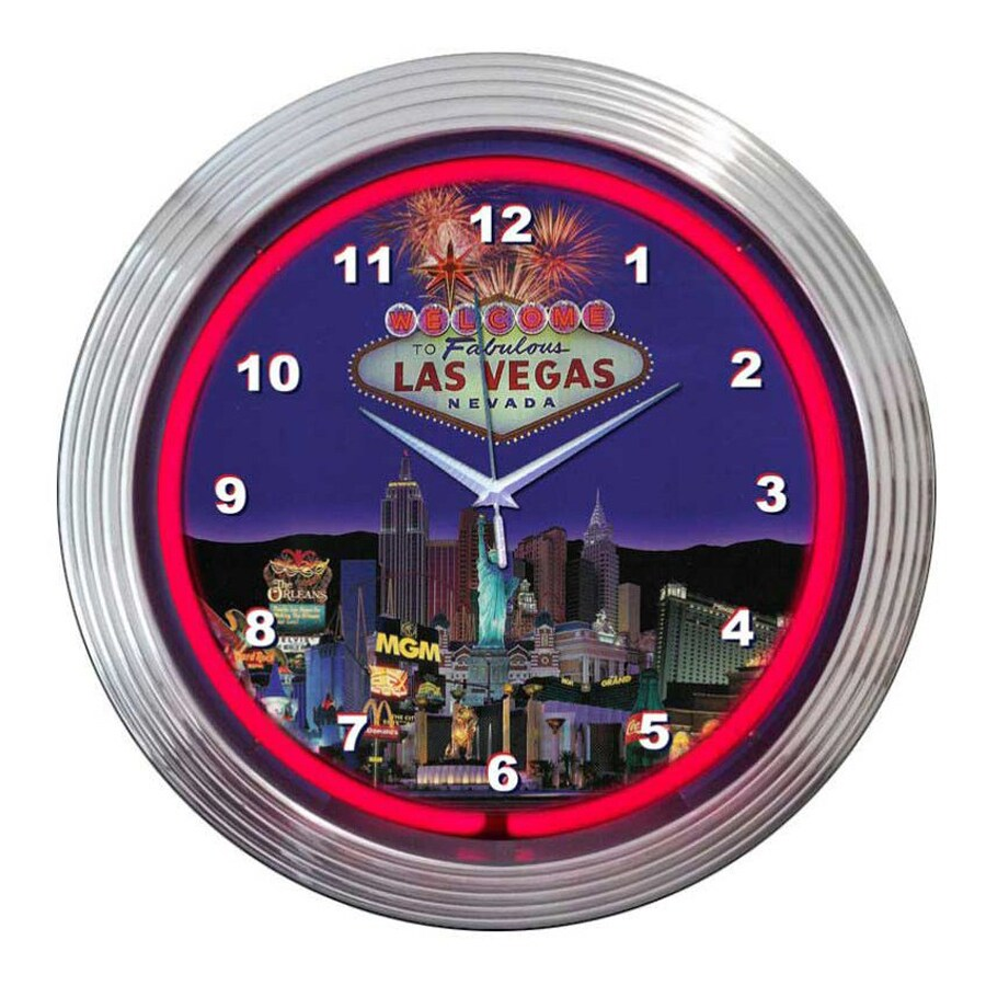 Neonetics Las Vegas Analog Round Indoor Wall Clock