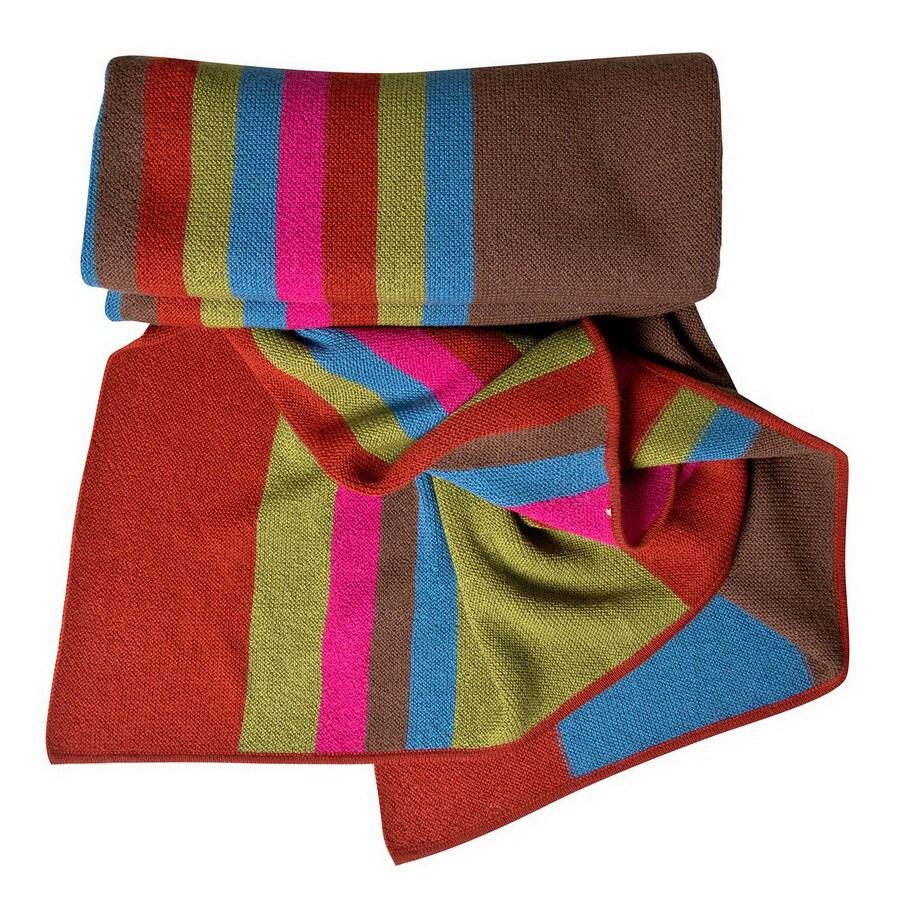 KOKO Company Alpaca Rust 60-in L x 60-in W Wool Throw