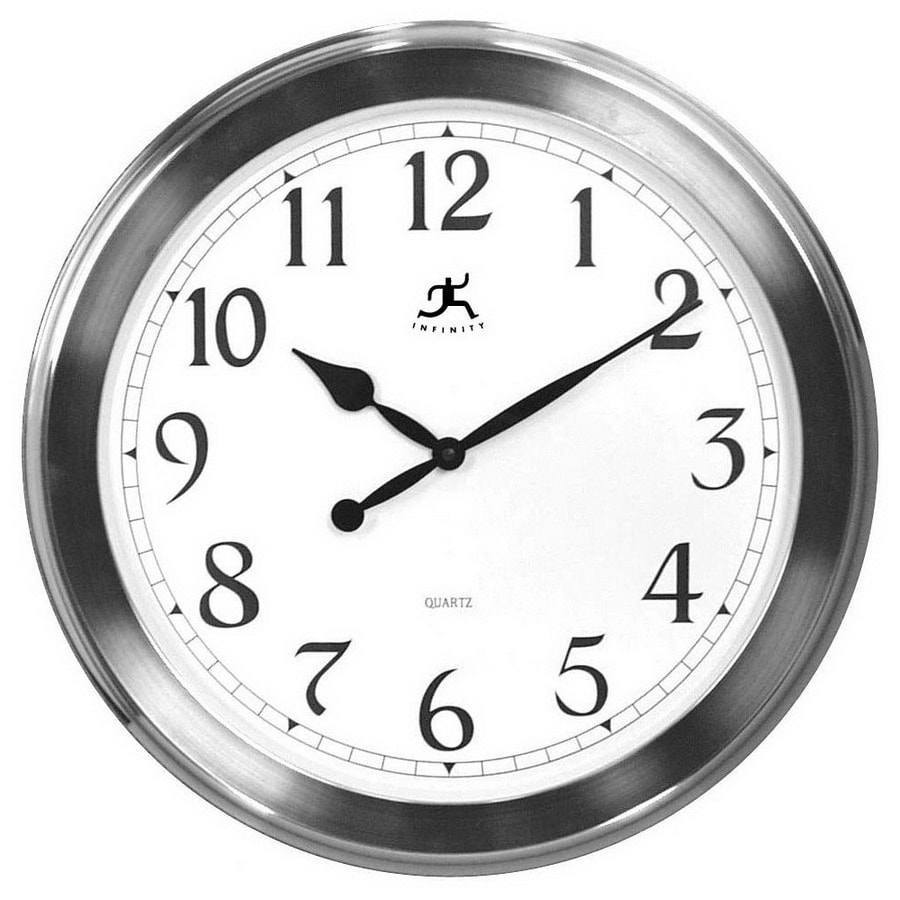 Infinity Instruments Infinity Instruments 12149-1567 Brushed Nickel Standard/Arabic Numeral The Argent Wall Clock Brushed Nickel Clock