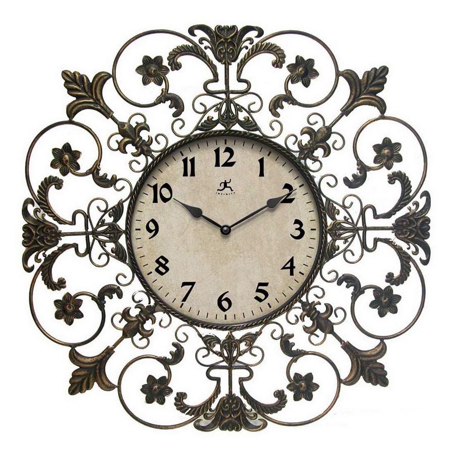 Infinity Instruments Standard/Arabic Numeral Fleur De Lis Wall Clock