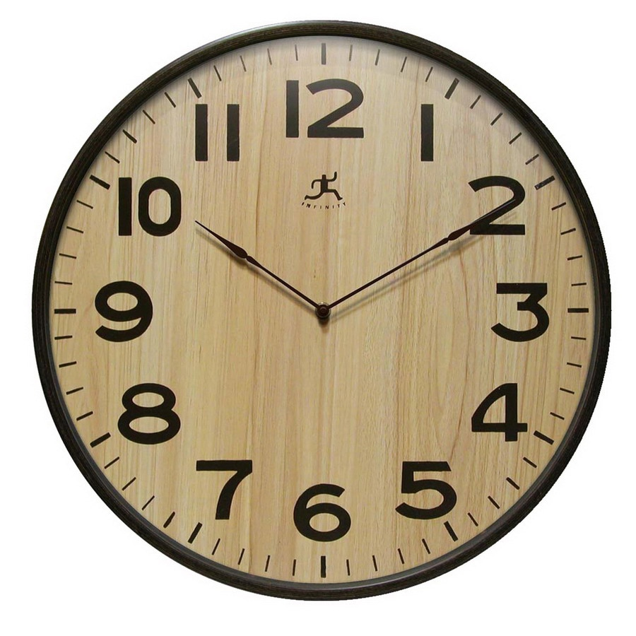 Infinity Instruments Standard/Arabic Numeral Arbor Wall Clock