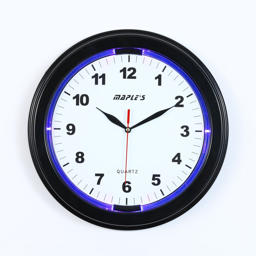 Maple's LED Analog Round Indoor Wall Clock