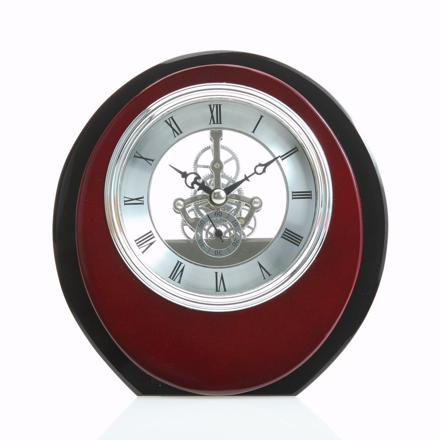 Maple's Skeleton Analog Oval Indoor Tabletop Clock