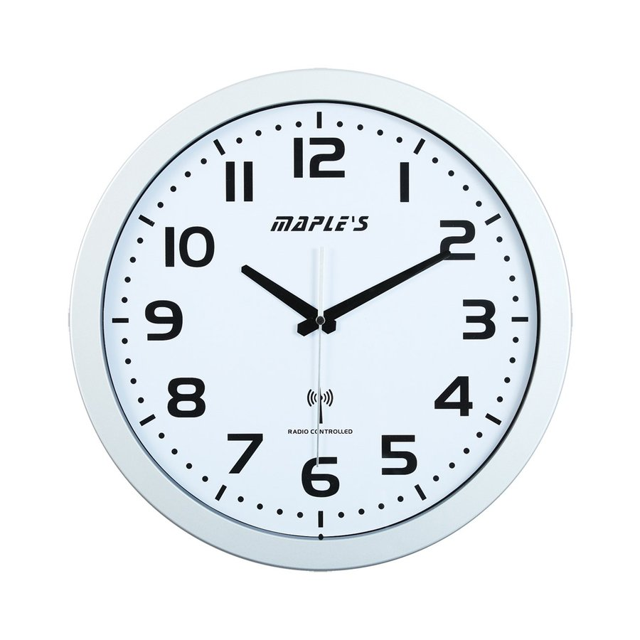 Maple's Radio-Controlled Analog Atomic Round Indoor Wall Clock