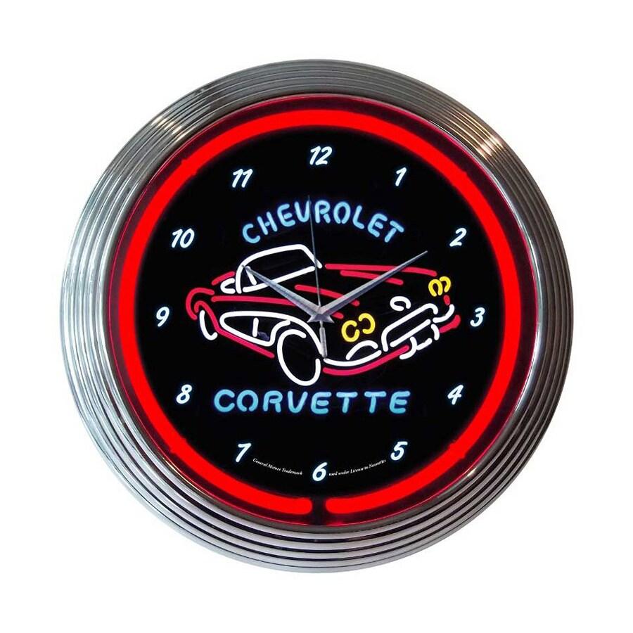 Neonetics Chevrolet Corvette Analog Round Indoor Wall Clock