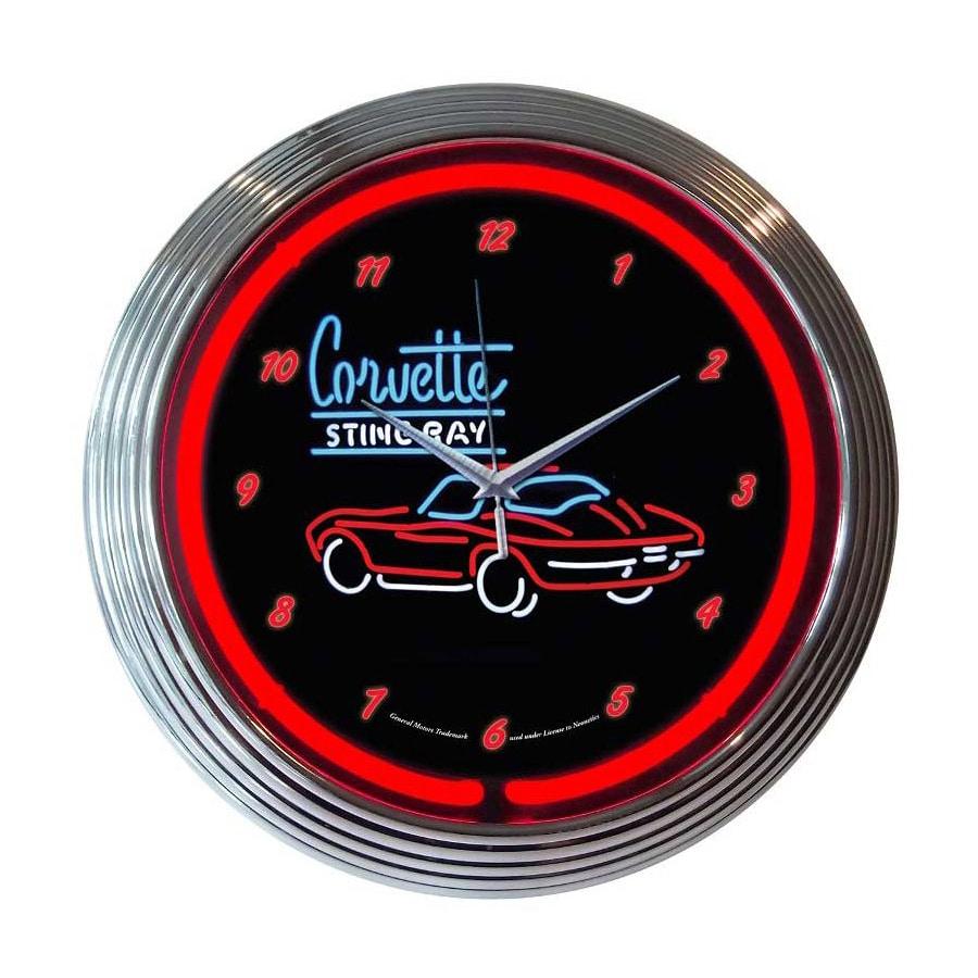 Neonetics Corvette Sting Ray Analog Round Indoor Wall Clock