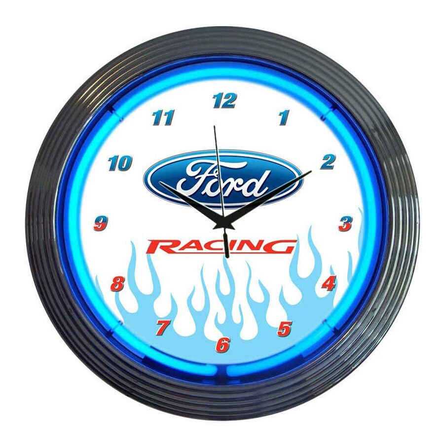 Neonetics Ford Racing Analog Round Indoor Wall Clock