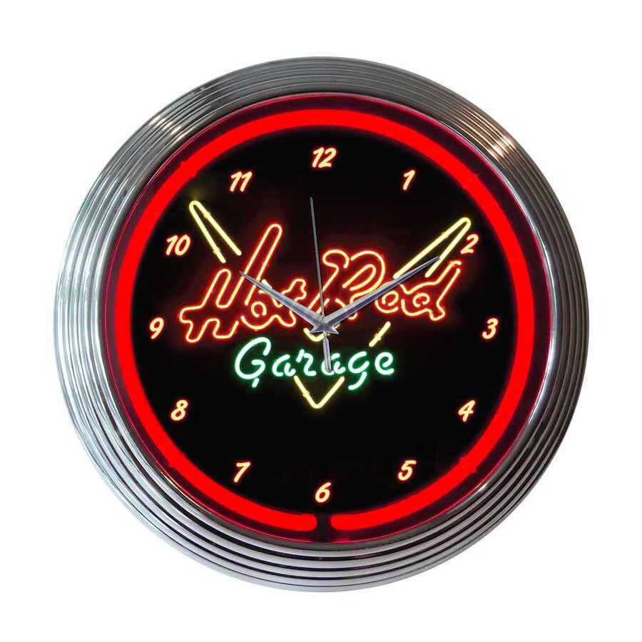 Neonetics Hot Rod Garage Analog Round Indoor Wall Clock
