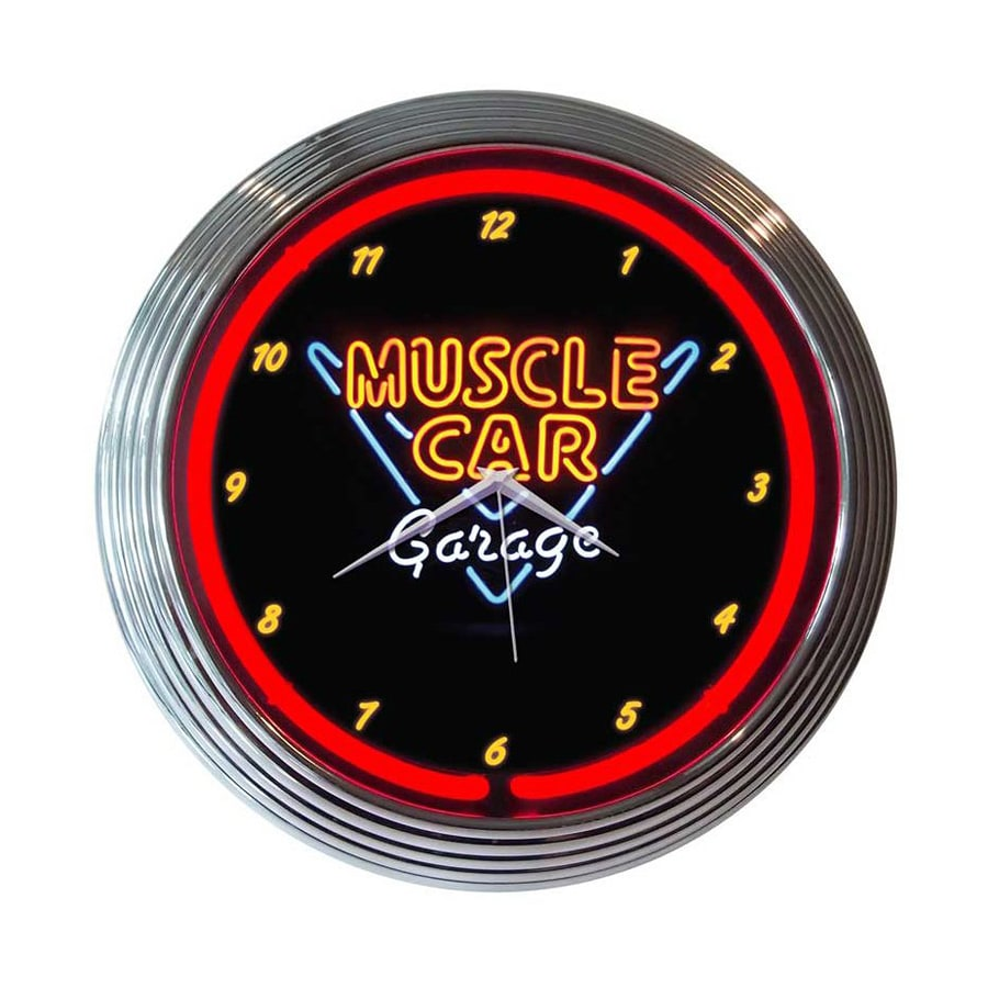 Neonetics Muscle Car Garage Analog Round Indoor Wall Clock
