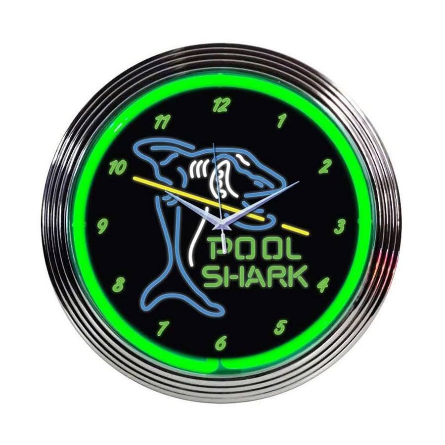 Shop Neonetics Pool Shark Analog Round Indoor Wall Clock ...