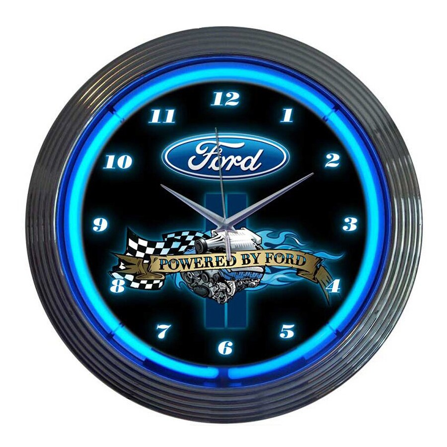 Neonetics Powered By Ford Analog Round Indoor Wall Clock