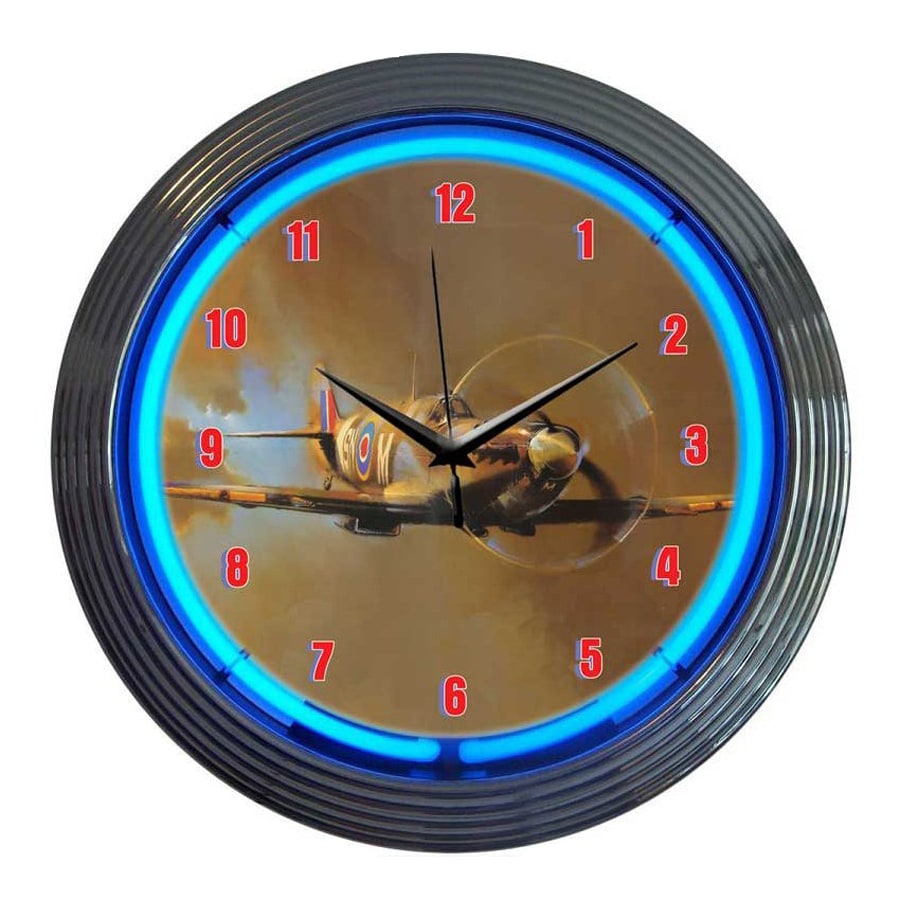 Neonetics Spit Fire Analog Round Indoor Wall Clock