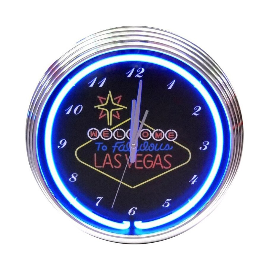 Neonetics Welcome to Las Vegas Analog Round Indoor Wall Clock