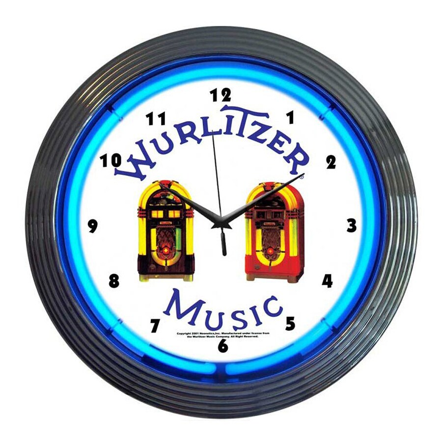 Neonetics Wurlitzer Jukebox Analog Round Indoor Wall Clock