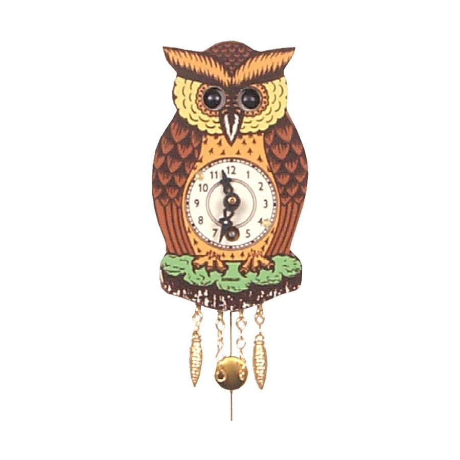 Alexander Taron Analog Owl Indoor Wall Standard Clock