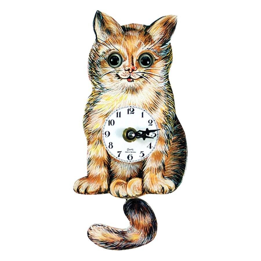 Alexander Taron Analog Cat Indoor Wall Standard Clock