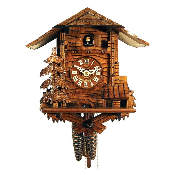 Alexander Taron Analog Chalet Indoor Wall Cuckoo Clock In The Clocks Department At Lowes Com