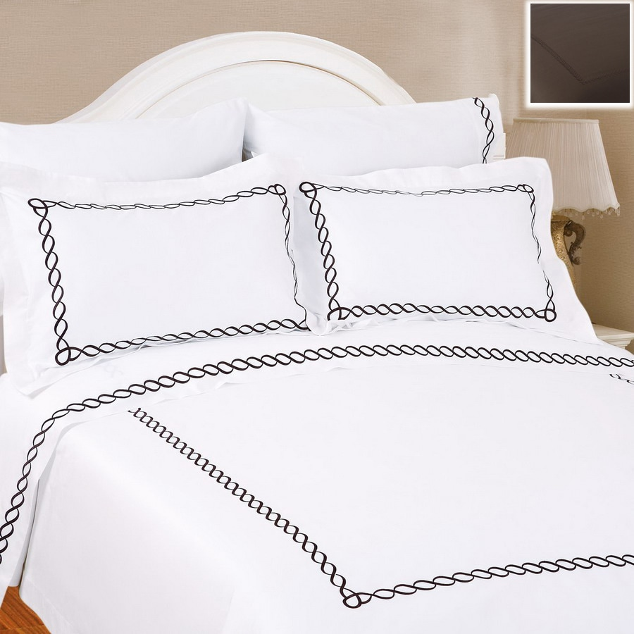 North Home Bedding Barcelona 3-Piece Chocolate Queen Duvet Set