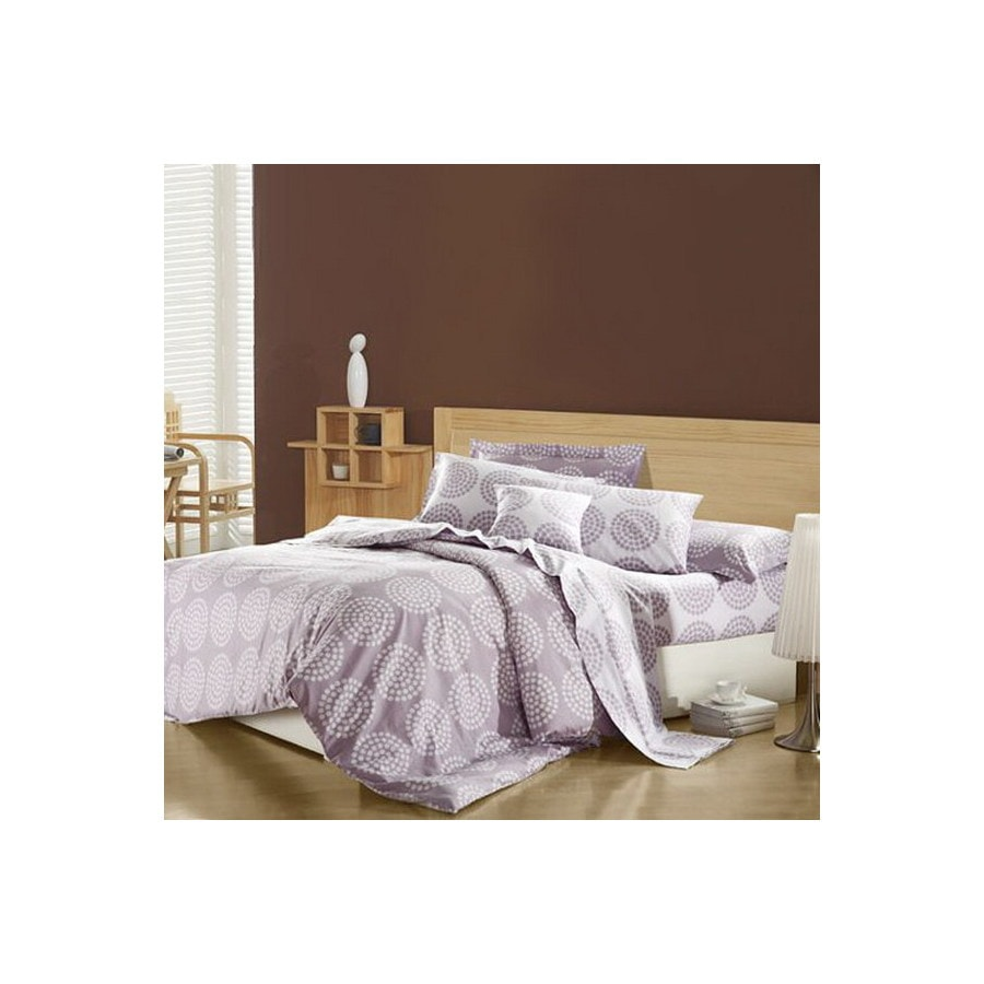 North Home Bedding Lily 4-Piece Purple Queen Duvet Set