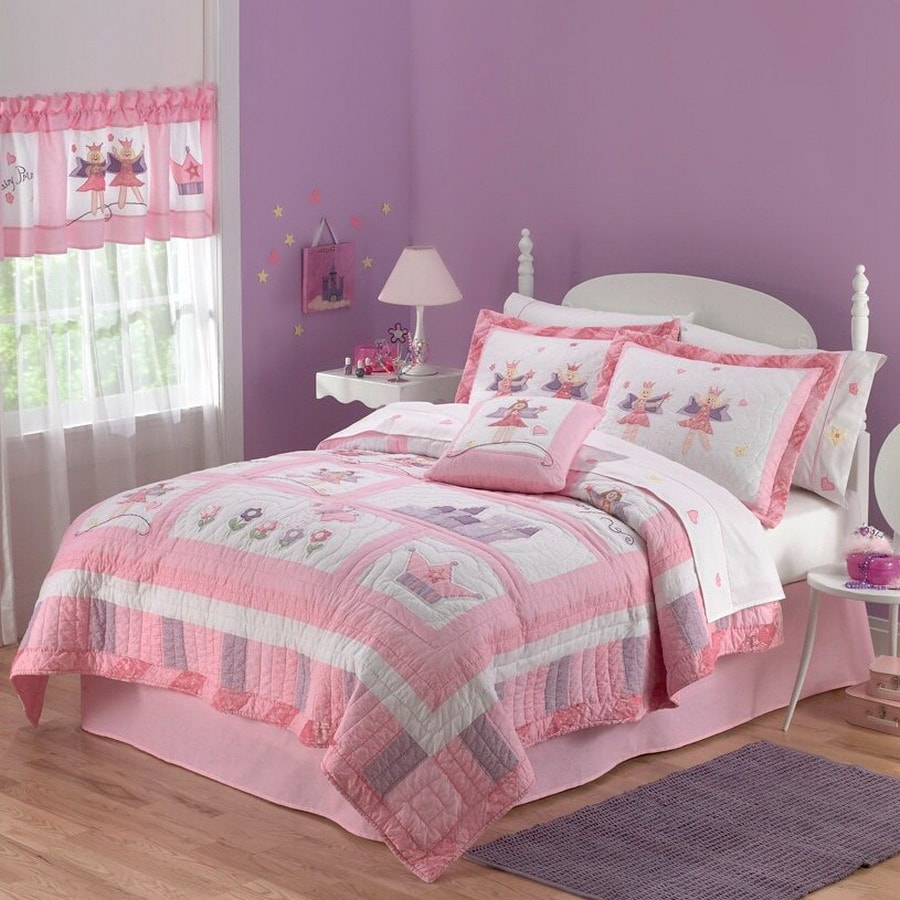 my world fairy princess 2 piece pink twin quilt set at. Black Bedroom Furniture Sets. Home Design Ideas
